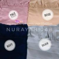 Segi Empat Alyla Square Ruffle Hijab Rempel Platinum Crepe