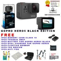 Jual GOPRO HERO5 BLACK ORIGINAL 100% PAKET KOMPLIT / GOPRO HERO 5 BLACK Murah