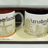 Starbucks Espresso Cups Demitasse Mini Mug Netherlands Amsterdam