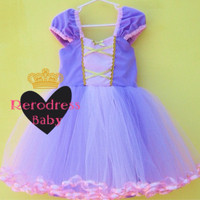 Dress Princess Anak Tutu Rapunzel Disney
