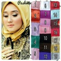 Jual Pashmina Satin Velvet Polos / Jilbab / Hijab ( Hitam, Silver, Gold) Murah