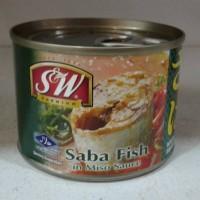 Saba Fish in Miso Sauce S&W Ikan Makarel Dalam Saus Miso 200g Thailand
