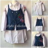 Jual Premium Import Dress Tunik Denim Embroidery 8141 Murah