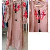 Jual Dress Gamis Choco Embroidery Murah
