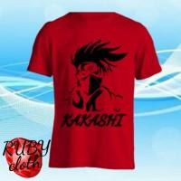 baju kaos animasi NARUTO SHIPPUDEN t shirt / tshirt KAKASHI SENSEI