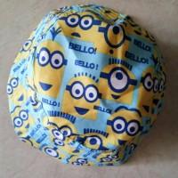 Jual Topi bucket hat anak motif Minion Murah