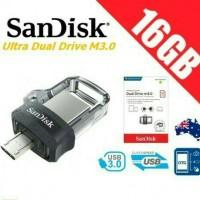Jual Sandisk Ultra Dual Drive m3.0 USB 3.0 16gb - OTG 100% OriginaL Resmi Murah