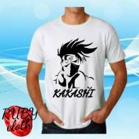 baju kaos animasi NARUTO SHIPPUDEN t shirt KAKASHI SENSEI