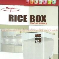 Maspion Rice Box MRD12 Kap 12KG Plastik Kuat Anti Kutu Produk Resmi