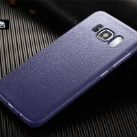 Samsung S7 edge back cover leather softcase hp soft jelly LITCHI CASE