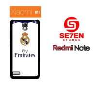 Casing HP Xiaomi Redmi Note 1 real madrid white Custom Hardcase
