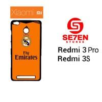 Casing HP Xiaomi Redmi 3 Pro 3S real madrid 2 suit Custom Hardcase