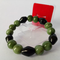 Jual Gelang Kombinasi Giok Hitam dan Giok Nefrite Jade Natural Murah