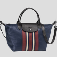 Le Pliage Cuir Ray Top-Handle Small Size - Navy