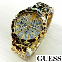Jual GS09 G Jam Tangan Wanita Guess Leopard Gold Ladies Watc A2220 Murah