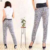 Jual F BEST SELLER [Pants Leopard Abu SW] celana wanita rayon bangkok abu a Murah