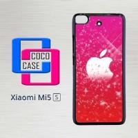 Casing Hardcase Hp Xiaomi Mi 5s Apple Logo in Pink Glitters X4564