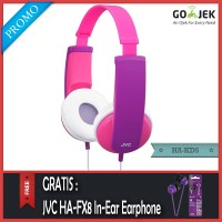 PROMO JVC HA-KD5 Headphone For Kids Pink - Gratis JVC HA-FX8 Original