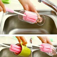 Jual Promo ! Tongkat Spon Sikat Pembersih Cuci Botol Dot Mug Gelas TARIK (W Murah