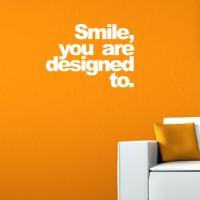 Stiker Smile you're design to Dinding Kaca Wall Sticker Rumah Kamar