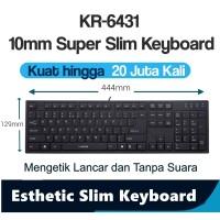 I-Rocks scissor Keyboard Terrace keycap 3 Area 20Jt kali ketik KR6431B
