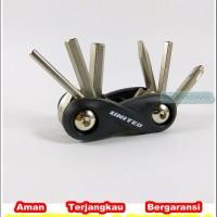 Jual multi tool kit mini united 6 in 1 kunci lipat Murah