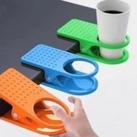 Jual Plastic table coffee cup holder cup clip tempat gelas meja kuat-Audrey Murah