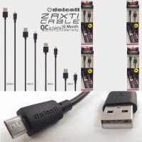 Kabel Data Delcell Zaxti Micro Usb Fast 3A Charger Charging Cepat QC