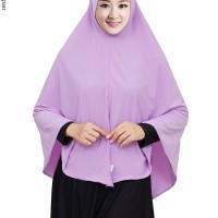 Hijab Khimar Jilbab Instan JUMBO jersey Super model pinguin pakai pet