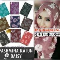 Model Hijab Khimar Terupdate Pasmina Motif/Hijab Jilbab Pashmina Denim