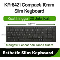 I-Rocks Esthetic Slim Keyboard Compact Usb Wired KR6421 PQSP Selection