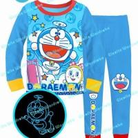 Setelan Baju Tidur Piyama Doraemon Sz 8-13th Import