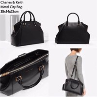TAS WANITA ORIGINAL CHARLES AND KEITH HANDBAG METAL (BEST SELLER