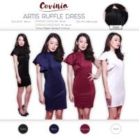 CRG171121 - Artis Ruffle Dress / Basic Bodycon Side Ruffle Dress One S