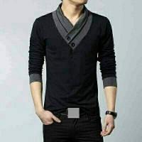 harga Minho Long Pakaian Pria Kaos Kerah V Tokopedia.com