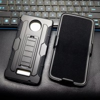 motorola MOTO Z PLAY Future Armor Holster Case Dual Layer casing cover
