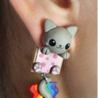 harga Anting Tassel Handmade Clay Import Korea Xuping Kucing Pelangi Pompom Tokopedia.com