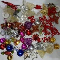Jual accessories dekorasi hiasan pohon natal set ornamen bol Berkualitas Murah