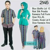 Jual sarimbit gamis batik couple keluarga Inaya Murah