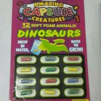 mainan kapsul rendam jadi macam macam dinosaurus
