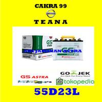 Aki NISSAN TEANA GS Hybrid 55D23L Aki mobil Basah dari Astra