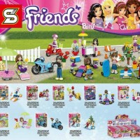 Lego SY 628 1-8 Minifigure Friends set 8 in 1