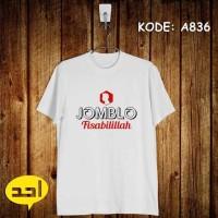 Jomblo Fisabilillah | XXL | A-834 | Kaos Islami/Islam/Muslim/Dakwah