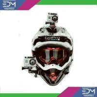 Jual Mounting Helm Actioncam Motovlog Carvlog Helmet Mount Xiaomi Yi Gopro Murah