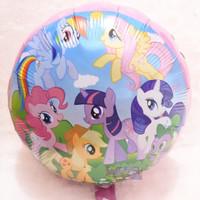 Balon Foil Karakter Little Pony Bulat Tema Warna Pink