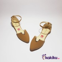 Sepatu Flat Shoes / Flatshoes Wanita Tali Vasco DM03 Moka Termurah