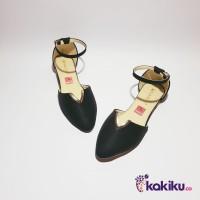 Sepatu Flat Shoes / Flatshoes Wanita Tali Vasco DM03 Hitam Termurah
