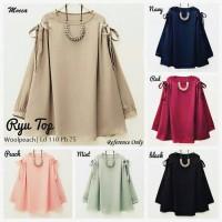 xxl xl jumbo bigsize blouse tunik baju atasan muslim wanita gaya model
