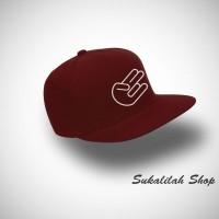 Topi Snapback JDM Hand - Maroon