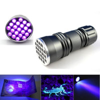 Senter Mini UV Ultraviolet 21 LED Blacklight Invisible Marker Flash